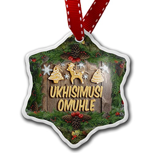Christmas Ornament Merry Christmas in Afrikaans from South Africa – Neonblond 1888